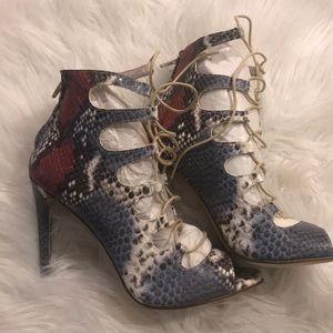 Zara sneak lace up heels
